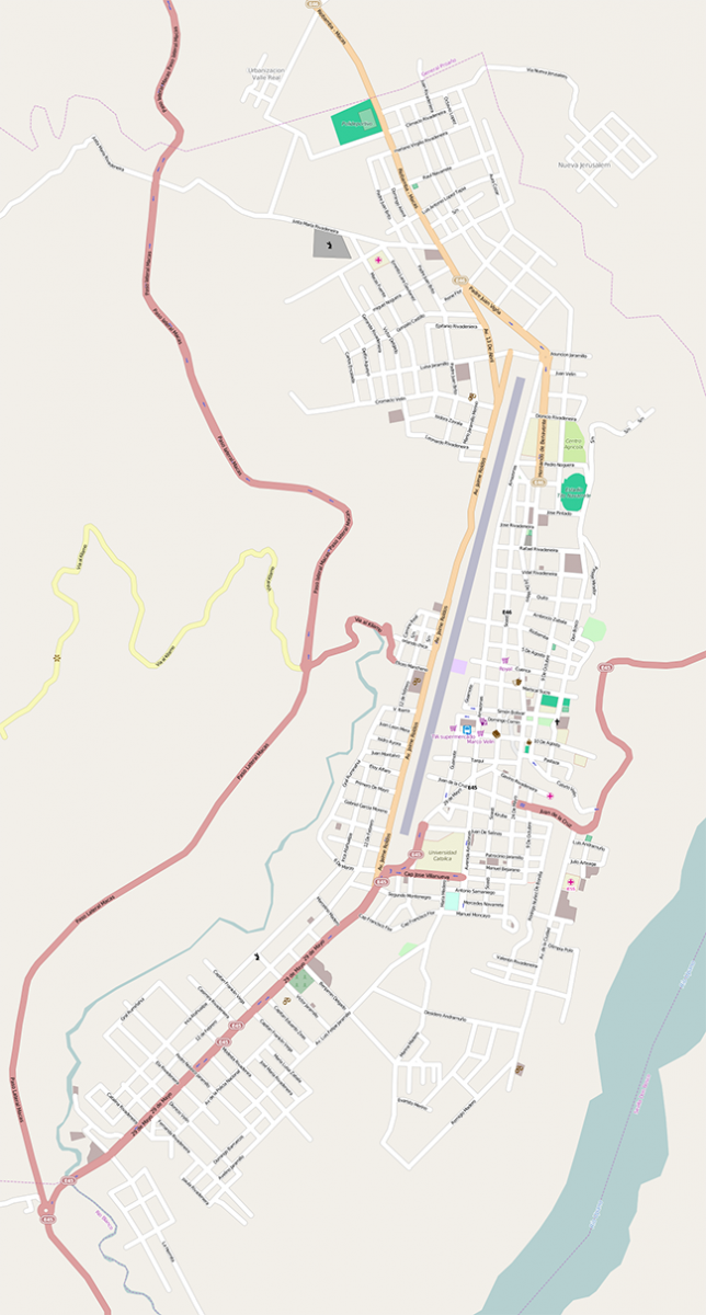 OpenStreetMap (mapnik) map of the area around -2.30275, -78.12178